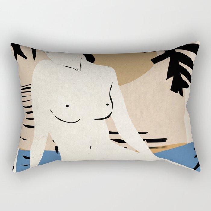 Tropical Nude 2 Rectangular Pillow