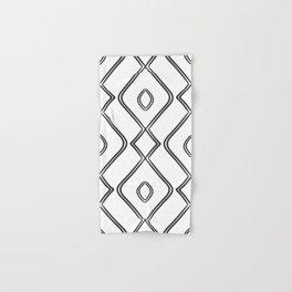 Modern Boho Ogee in Black and White Hand & Bath Towel