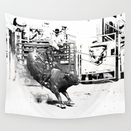 Rodeo Bull Riding Champ Wall Tapestry