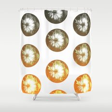 rusty circles Shower Curtain