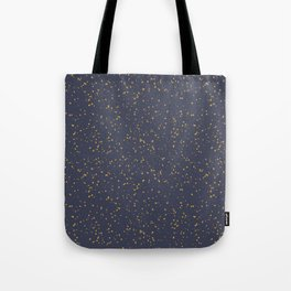 Speckles I: Dark Gold on Blue Vortex Tote Bag