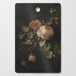 Botanical Rose And Snail Cutting Board