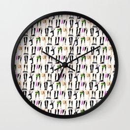 Circle jerk - fluro orgy mix Wall Clock
