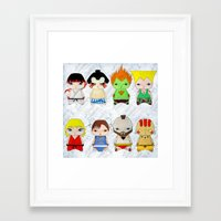 street fighter Framed Art Prints featuring A Boy - Street fighter by Christophe Chiozzi