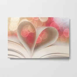 Heart & Book Metal Print
