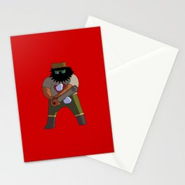 Chainsaw guy Stationery Cards