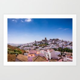 Whitewashed town of Arcos de la Frontera in Cadiz, Andalusia, Spain Art Print
