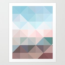 Apex geometric Art Print