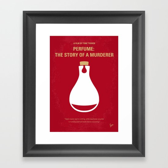 No194 My Perfume The Story of a Murderer minimal movie poster Framed Art Print