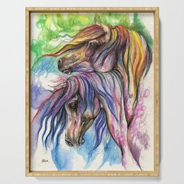 Rainbow Horses Serving Tray