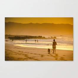 Hawaiian Beach Sunset Canvas Print