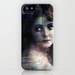 Vintage Woman Pop With Modern Highlights Blue Vertical iPhone Case
