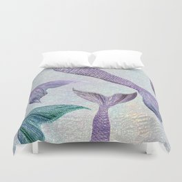 Amethyst and Teal Mermaid Tails Duvet Cover