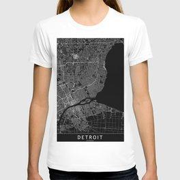 Detroit Black Map T-shirt