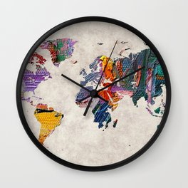 World Map 59 Wall Clock