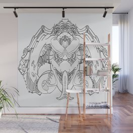 Forked Face Wall Mural