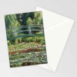 The Japanese Footbridge and the Water Lily Pool by Monet Stationery Cards