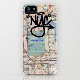 Manhattan: NY Subway Map iphone case iPhone Case
