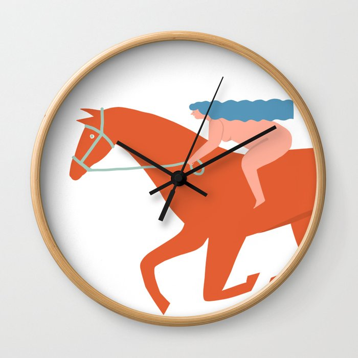 Naked derby Wall Clock