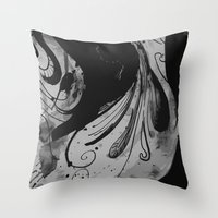 reassurance Throw Pillows featuring Ink II by Magdalena Hristova