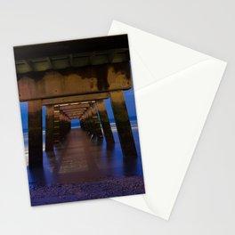 Under the Pier Coastal NIght Landscape Photograph Stationery Cards