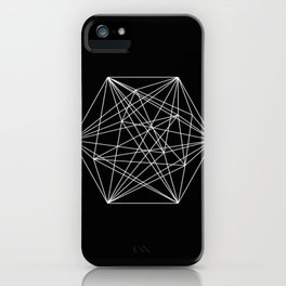 Intricate - Black And White Geometric, Conceptual Abstract iPhone Case