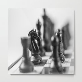 Dark Horse-Knight Metal Print