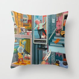Greetings from Hungary (left side) Throw Pillow