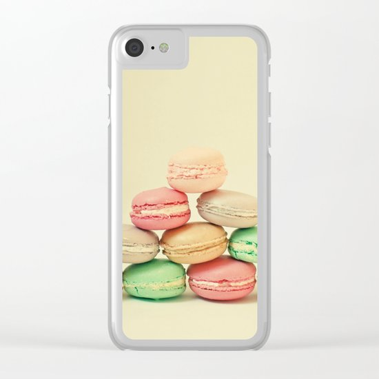 French Macarons Clear iPhone Case