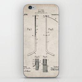 Ice Hockey Stick Patent - Ice Hockey Art - Antique iPhone Skin