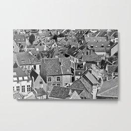 Ghent Rooftops 2 Metal Print