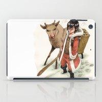 bouletcorp iPad Cases featuring Kid Santa by Bouletcorp