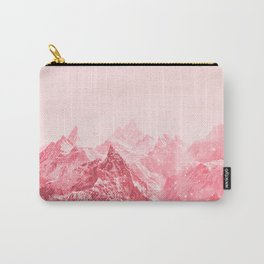 Mountains Red Carry-All Pouch