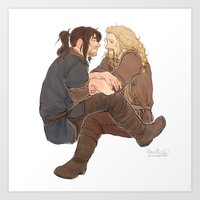 fili Art Prints featuring fili&kili by Ronnie