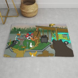 """Flock of Gerrys Gerry Loves Tacos """"The Band's Big Show"""" by Seasons Kaz Sparks Rug"""
