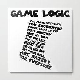 Game Logic Metal Print