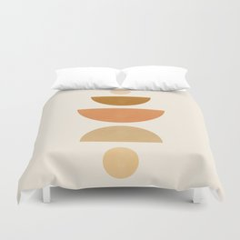 Abstraction_Geometric_Shape_Moon_Sun_Minimalism_001D Duvet Cover