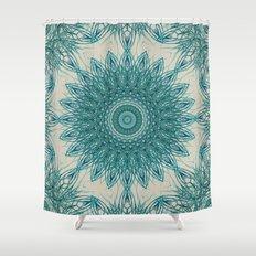 Woven Palm Mandala Shower Curtain