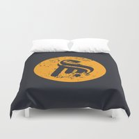 logo Duvet Covers featuring Logo by Sobhani