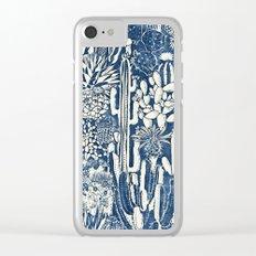Indigo cacti Clear iPhone Case