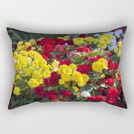 Begonias in Flower Rectangular Pillow