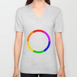 LGBT Rainbow Circle Unisex V-Neck