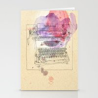 mercedes Stationery Cards featuring typewriter by Sabine Israel