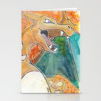 charizard Stationery Cards featuring Charizard by Luke Jonathon Fielding