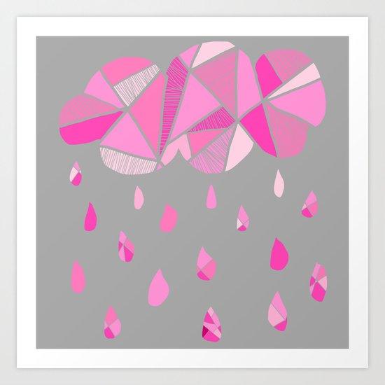 Fractured Pink Cloud Art Print