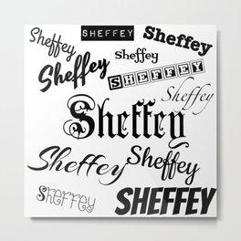 Sheffey Fonts in Black Metal Print