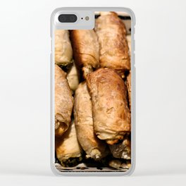 Greek Delight Clear iPhone Case