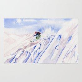 Powder Skiing Rug