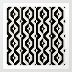 Modern bold print with diamond shapes Art Print