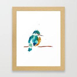 Golden Kingfisher Framed Art Print